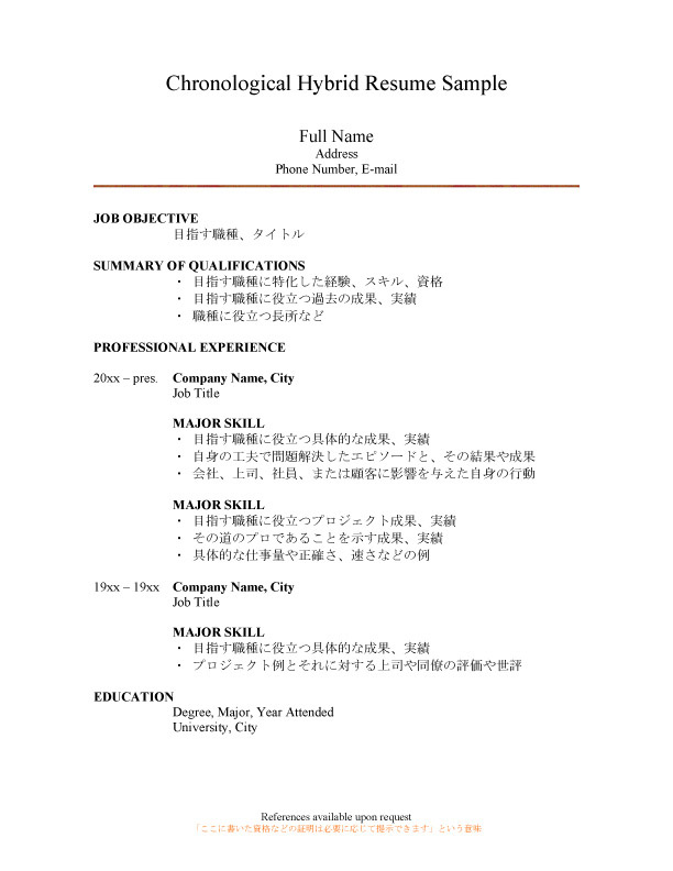 28 hybrid resume format doc 4788 hybrid resume